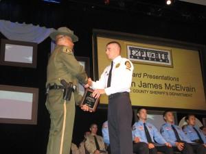 """Dan Silva receiving his """"Top Gun"""" award."""