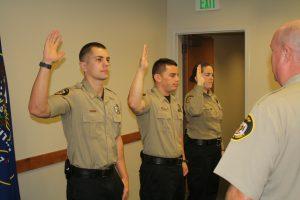 Deputies Kyle Maddox, Steven Shumway, and Samantha Record